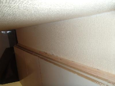 この大きな隙間は忌避スプレーを塗布した木材で塞ぎました
