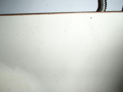 洗面ユニット内の足跡