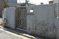 神奈川県 アルミ製門扉の取り付け