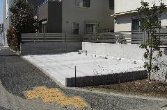 神奈川県 コンクリート舗装の駐車場工事