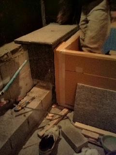 東京都台東区 個人住宅 浴室石工事
