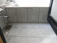 東京都台東区 住宅浴室腰壁及び床 十和田石施工
