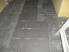 東京都港区の店舗の床タイル工事