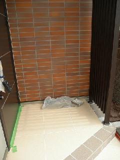 東京都大田区の個人住宅外壁と床タイル工事
