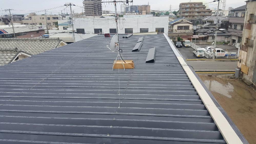 88折板重ね葺き工事