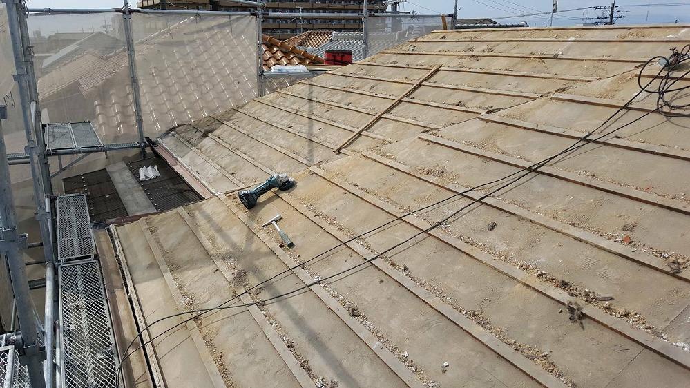 瓦からSガルテクトへの葺き替え工事