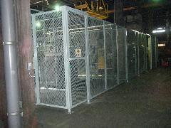 栃木県足利市 工場屋内 エリア分けフェンス制作・設置