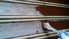 渋谷区 M邸 庭の木製目隠し 保護剤塗装