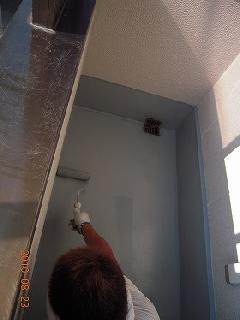 墨田区 住宅のベランダ 防塵塗装