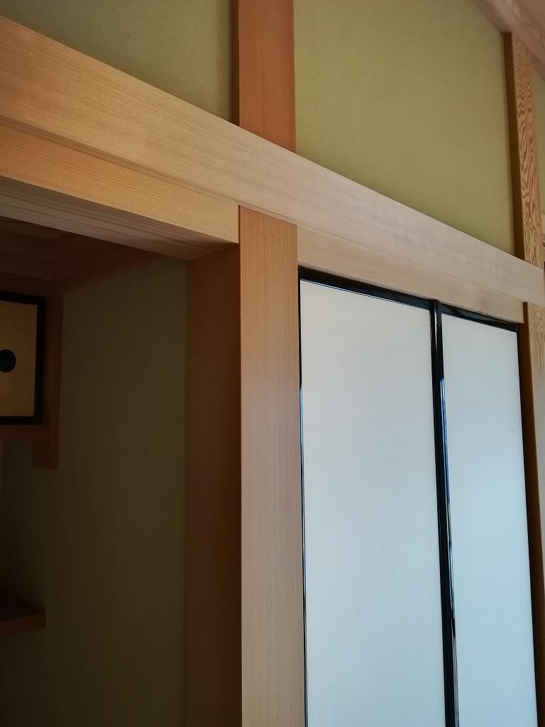 床の間 4面柾柱