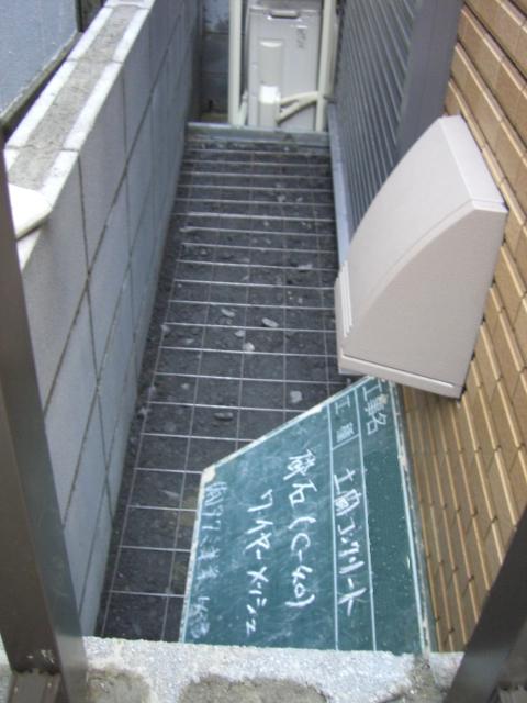 土間コンクリート/有効スペースを確保
