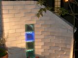 ガラスブロックLED照明の取り付け工事