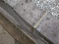 セメント補修後の目地