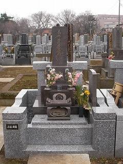 真間山弘法寺墓地の本小松石の石塔工事の事例