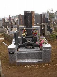 真間山大木家の墓地