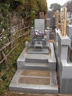 真間山弘法寺墓地(市川市)の奥行きのある墓地の施工事例