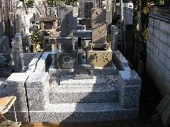 不動院境内墓地傾いた墓地の建て直し工事(薮崎家)