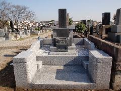 千葉市桜木霊園5�u墓地の施工例(日暮家)