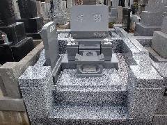 即随寺(市川市)における洋型墓石の施工事例