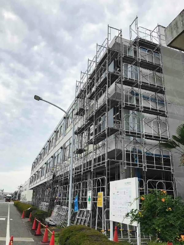 千葉県 工場技術 外壁補修工事 足場