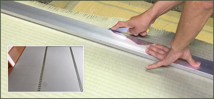 畳の修復作業