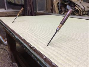 畳の作業風景