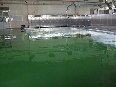 給食センターの塗り床工事