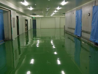 食品工場の塗り床工事