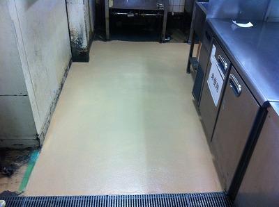 厨房床 速硬下地材60+ケミクリートE
