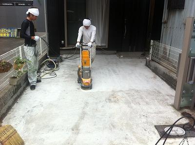 既設コンクリート研磨処理