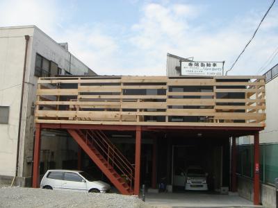 2階事務所への階段