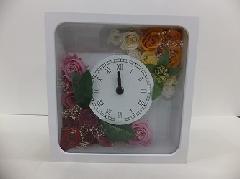 バラのプリザーブドフラワー時計