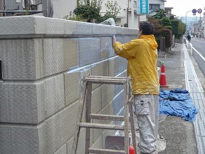 塀の塗り替え