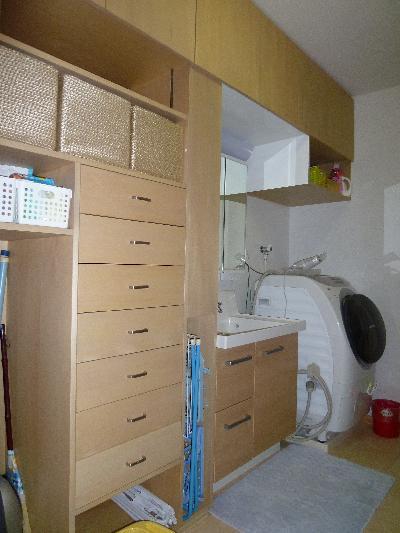 収納量を増やし、収納スペースをまとめました(*^_^*)