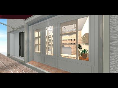 外から見た店内イメージ図