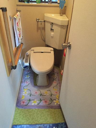 改修前トイレ