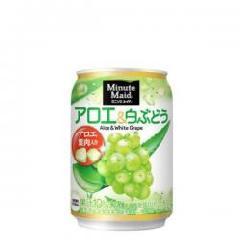 ★ミニッツメイドアロエ&白ぶどう 280g缶×48本★