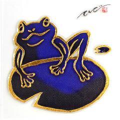金彩友禅立体ラバーシール<Frog> 蛙