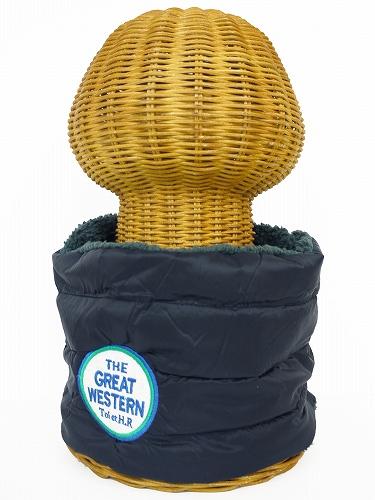 サイドボタン付き 裏地ボア ダウンネックウォーマー(丸ロゴワッペン付 クロ) WNBSA013R-50