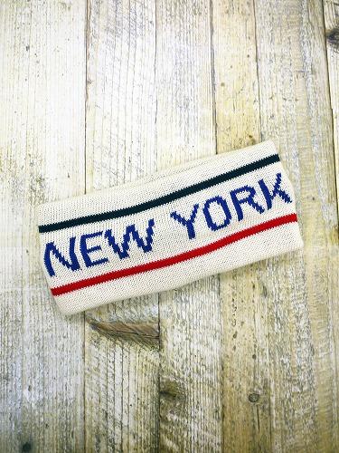 2ラインニューヨークロゴ入りターバン (オフホワイト) AHBA018R-11