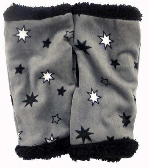 ベロアアームウォーマー(ダークグレー多角星) AWT154Z-40