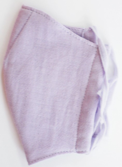 MK綿100ガーゼ4重構造立体縫製洗えるマスク(SSサイズ)(ラベンダー)MKTT001M-26