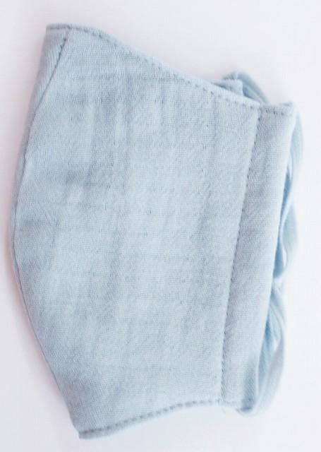 MK綿100ガーゼ4重構造立体縫製洗えるマスク(Sサイズ)(グレー)MKST001M-30