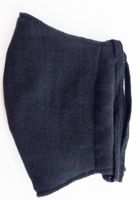 MK綿100ガーゼ4重構造立体縫製洗えるマスク(Sサイズ)(クロ)MKST001M-50