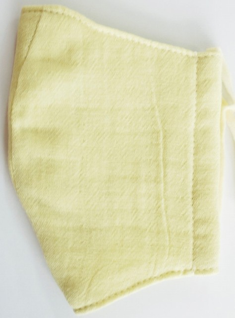 MK綿100ガーゼ4重構造立体縫製洗えるマスク(Sサイズ)(クリーム)MKST001M-12