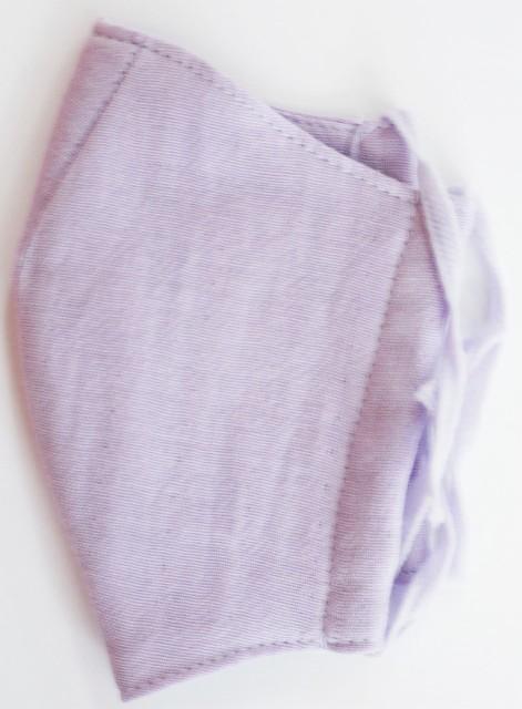 MK綿100ガーゼ4重構造立体縫製洗えるマスク(Mサイズ)(ラベンダー)MKMT001M-26