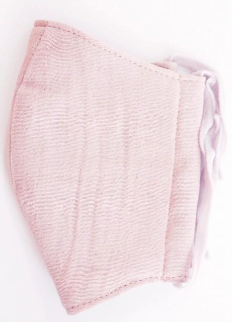 MK綿100ガーゼ4重構造立体縫製洗えるマスク(Mサイズ)(グレイッシュピンク)MKMT001M-64