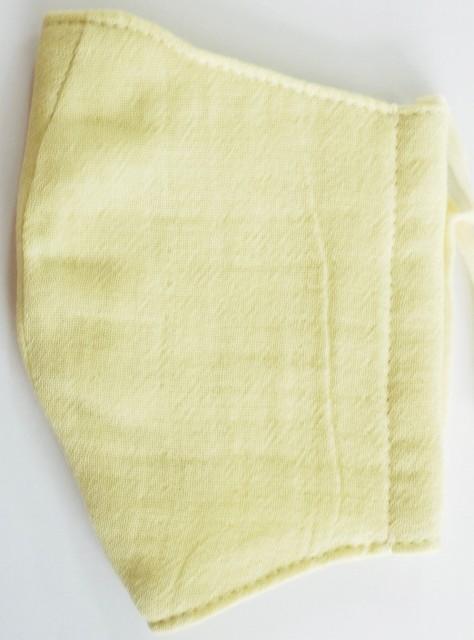 MK綿100ガーゼ4重構造立体縫製洗えるマスク(Mサイズ)(クリーム)MKMT001M-12