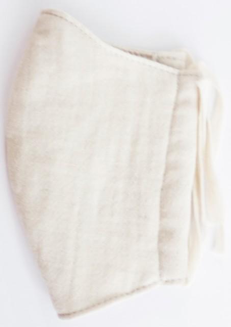 MK綿100ガーゼ4重構造立体縫製洗えるマスク(Mサイズ)(ライトベージュ)MKMT001M-31
