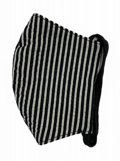 MKクールマックス立体縫製洗えるマスク(Mサイズ)(クロ×S)MKMT000M-50S